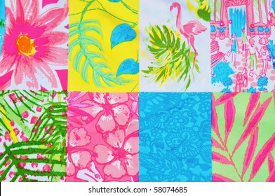 Collage of tropical designs