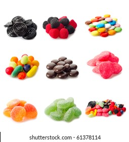 collage variety of candy
