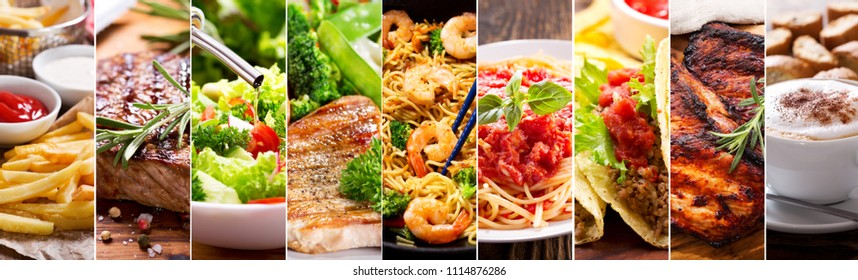 collage of various food products - Shutterstock ID 1114876286
