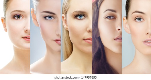 collage of various girls' portraits