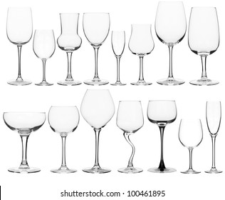collage of various wine glasses