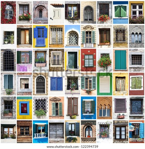 Collage Windows Photos Stock Photo (Edit Now) 122394739