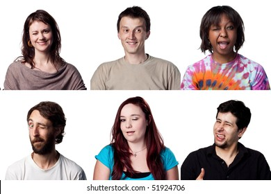Collage of winking adults, all full size images
