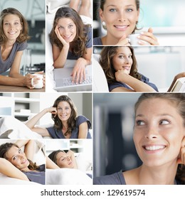 Collage of woman lifestyle images