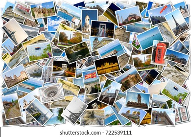 Collage of world travel images with various destinations in various countries