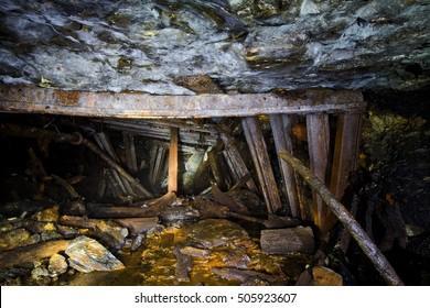 Collapse in an abandoned mine, Abkhazia, Georgia