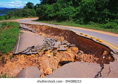 collapse, asphalt, road, hole, sink