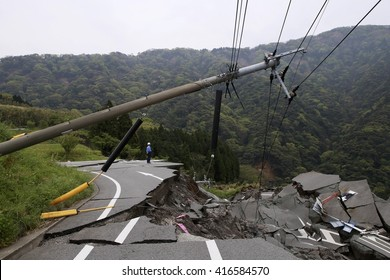collapsed roads