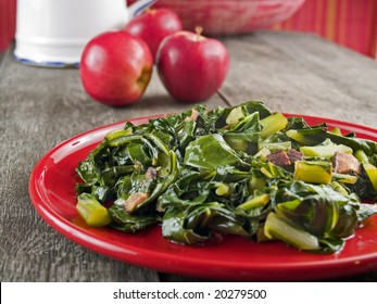 Collard greens and bacon
