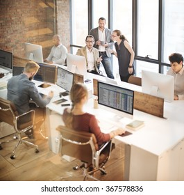 Colleagues Creative Design Planning Strategy Office Concept