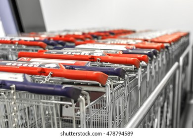 Collected in the number of shopping carts around a supermarket,