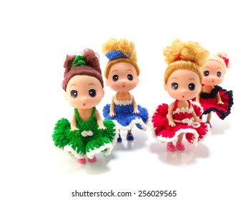 collectible baby girl cute doll with colorful knitting dress