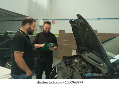 Collecting car from maintenance