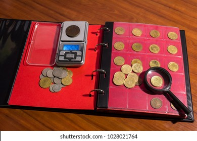 Collecting coins. Numismatics