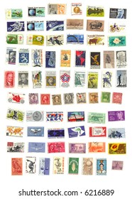 collection of 71 american vintage stamps