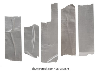 Collection of adhesive tape isolated on white background