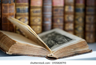 A collection of antique books