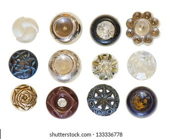 A collection of antique rosette style buttons for steam punk or scrap booking projects