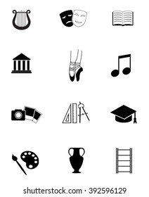 Collection of art, culture, education and science icons.