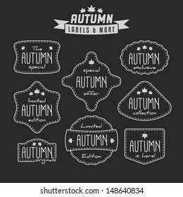 Collection of autumn sales related vintage labels
