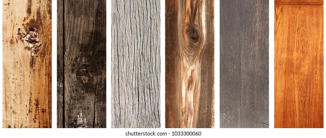 Collection of banners with texture old wood of different colors