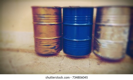 a collection of barrels