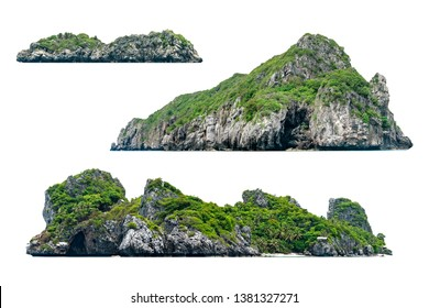 Collection of beautiful Island isolated on white background