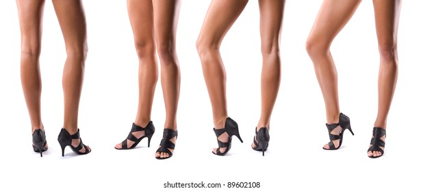 collection of beautiful slim woman legs