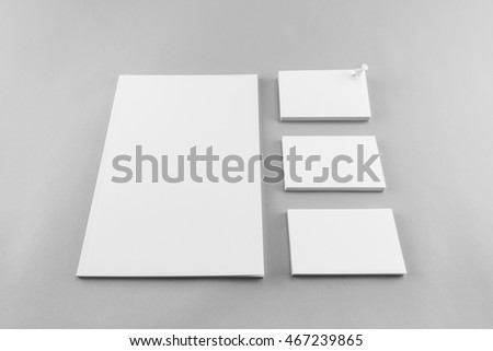 collection blank catalog magazine book template stock photo edit