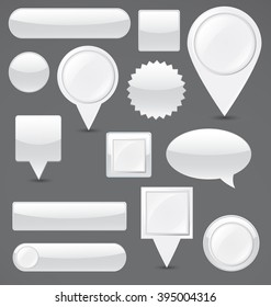 Collection of buttons in different shapes.