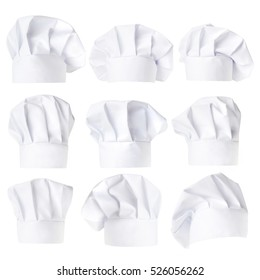 Collection of Chef Hat isolated on white background