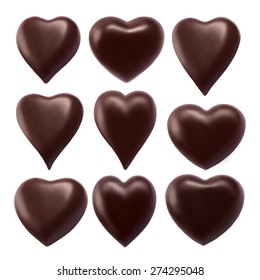 Collection chocolate heart