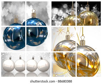 Collection of Christmas balls pictures