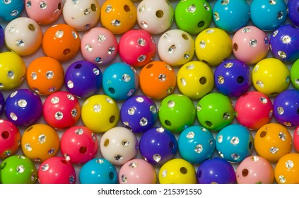 Collection of colored balls