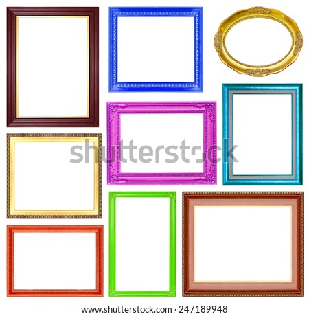 8ebfffe86ffd Collection Colorful Frames On White Background Stock Photo (Edit Now ...