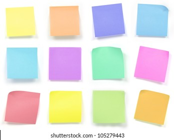 collection of colorful post it paper note