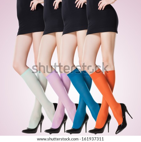 3c5acab64c6 Collection Colorful Short Stockings On Sexy Stock Photo (Edit Now ...