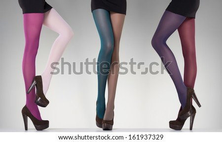 7e16080c01d Collection Colorful Stockings On Sexy Woman Stock Photo (Edit Now ...