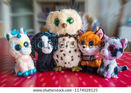 437169cee58 Collection Cute Cuddly Beanie Boo Toys Stock Photo (Edit Now ...