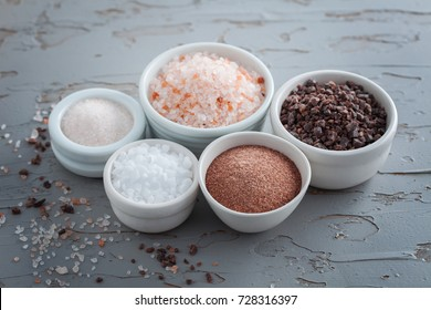 collection of different types of salt - food and drink