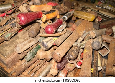 Collection of dirty old tools