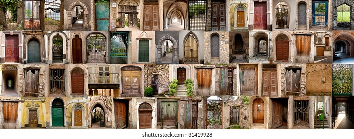 collection of doors in Italy