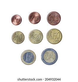 collection euros isolated