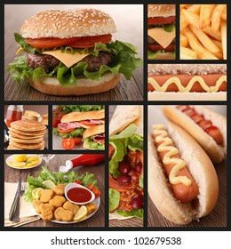 collection of fast food image