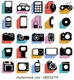 Collection flat icons