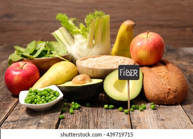 collection of food high in fiber