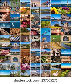 Collection of France images collage