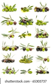 collection of fresh olives