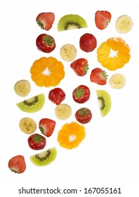 Collection of fruit isolated on white background - Shutterstock ID 167055161