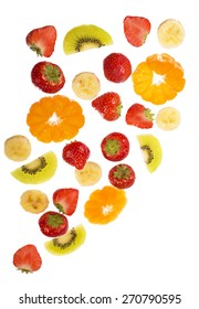 Collection of fruit isolated on white background  - Shutterstock ID 270790595